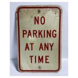 Vintage no parking street sign