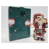 2002 Blue Sky Santa tealite holder
