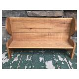 Doll size wooden church pew bench