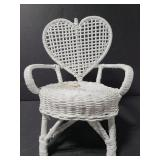 Small doll size wicker chair