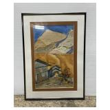 Framed ghost of bisbee original watercolor