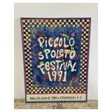 199 Piccolo Spoleto festival framed poster