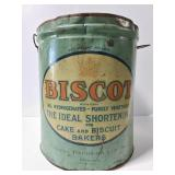 Huge Biscot shortening pail