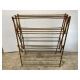 Large vintage wood drying rack