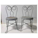 Pair of small child size Chicago Wire Chairs