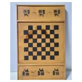 Rustic wall hanging checkers board
