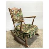Vintage rocking chair w/ colonial upholstery