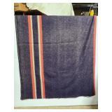 Vintage Hudson Bay style 100% wool blanket