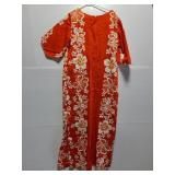 Orange Hawaiian themed dress