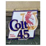 Colt 45 metal malt liquor sign