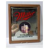 Miller beer mirrored bar sign