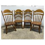 Lot of 4 vintage wood dining chairs