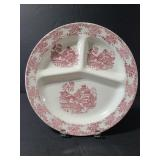 Marked ceramic divided china plate