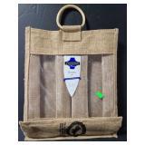 Ivanhoe wine burlap wine bag