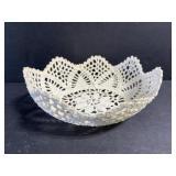 Vintage macrame doilie bowl