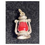 Tiny vintage lantern charm