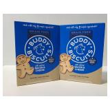 Two boxes of Buddy Biscuits dog treats