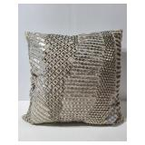 New with tags sequin bead throw pillow
