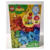 Box of Lego Duplo, open