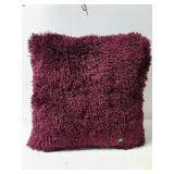Large purple shag pillow