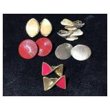 Assorted vintage clip on earrings
