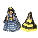 Two small Spanish beauties dolls