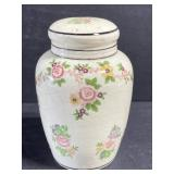 Antique floral porcelain shaker