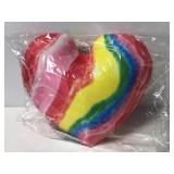 New scented heart tie die plush pillow