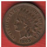 1865 Indian Head Cent - AU