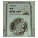 1878-CC Morgan Dollar - MS-62