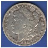 1880-CC Morgan Dollar  RARE - F20+