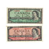 2 1954 Canadian Notes