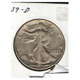1939-D Walking Liberty Half
