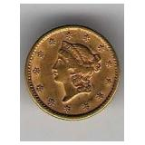 1851 Type 1 $1 Gold Piece