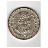 1962 Mexico Un Peso