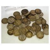 Roll of 50 Mercury Dimes