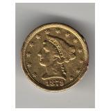 1879-S $2.50 Gold Piece
