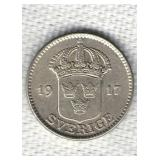 1917 Sweden 25 Ore