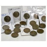 (17) Buffalo Nickels