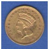 1856 $1 Gold Piece
