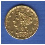 1903 $2 1/2 Gold Quarter Eagle