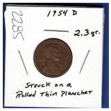 1954-D Lincoln Cent Error?