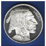 1 oz. BU Buffalo Silver Round
