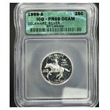 1999-S Proof Delaware Quarter - Silver