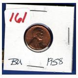 1958 BU Lincoln Cent