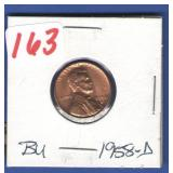 1958-D BU Lincoln Cent