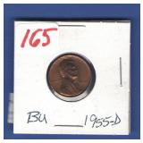 1955-D BU Lincoln Cent