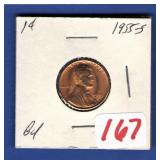 1955-S BU Lincoln Cent