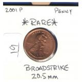 2001-P Lincoln Cent
