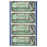 4-$1 1967 Canada Notes